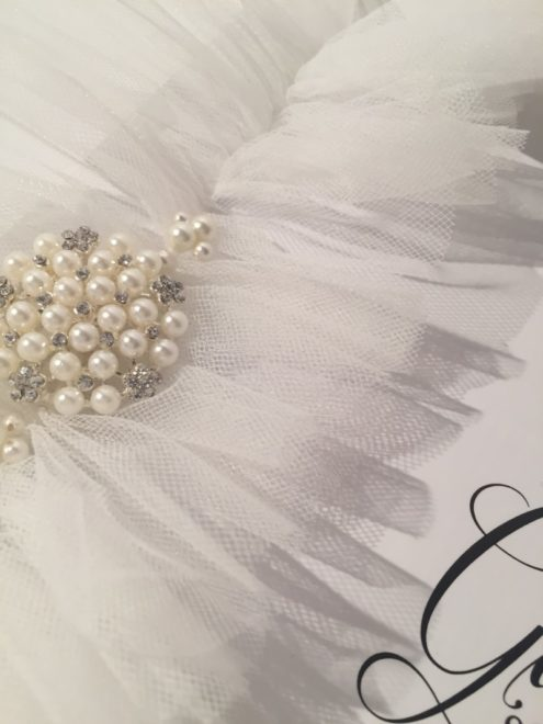 Bella Bridal White Wedding Garter with Tulle