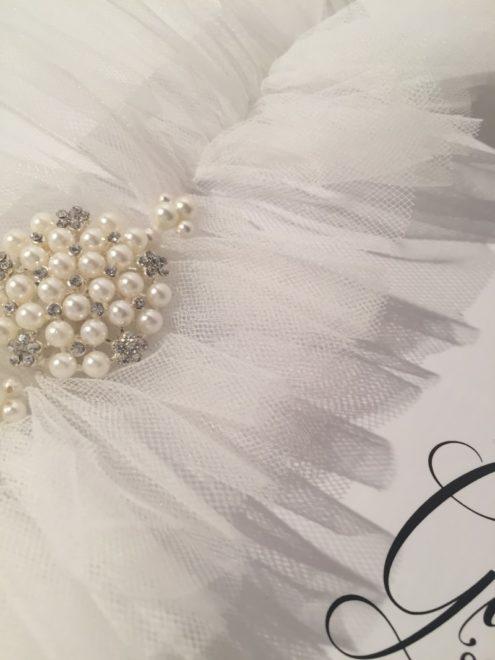 Bella Bridal White Wedding Garter with Tulle