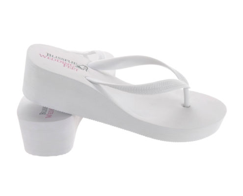 High wedge heel Flip Flops side view