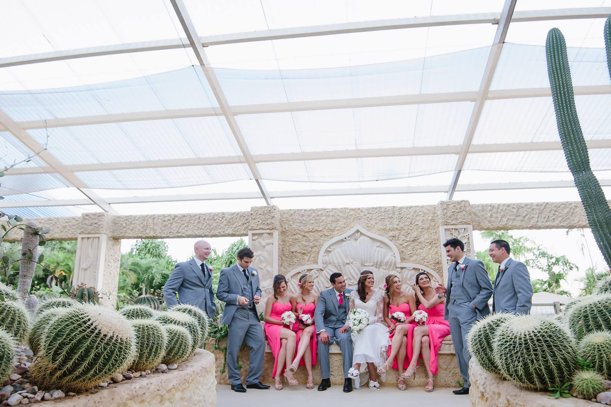 Meena's Bridal Flip Flops at Villa Botanica