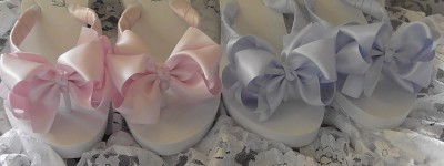 Bridesmaids Flip Flops in Pink or Blue