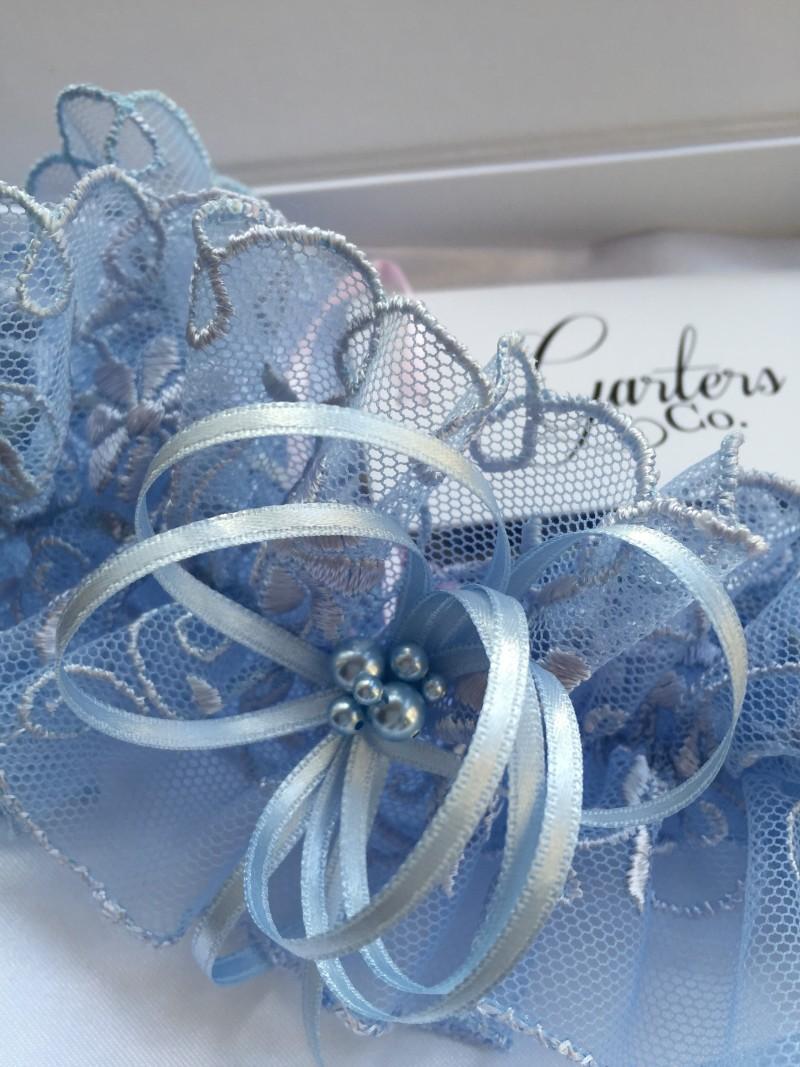 wedding blue garters