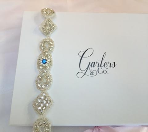 Beautiful Bling Wedding Garters with Rhinestones