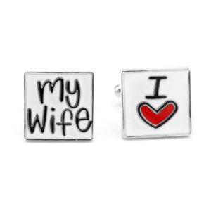 I love my wife cufflinks