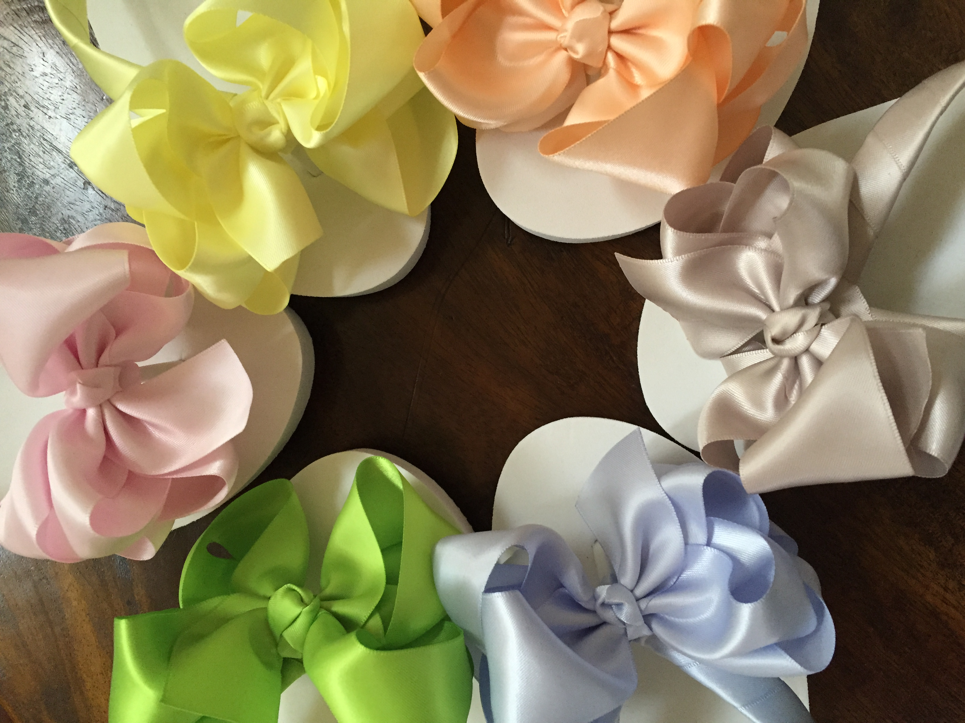 Bridesmaids Flip Flops Choose a colour