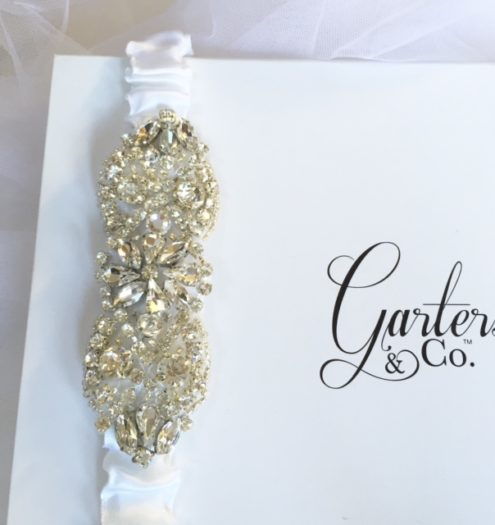Crystal Wedding Garter with Rhinestone Embellishment