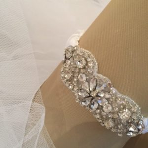 Charlisse Crystal Wedding Garter with Rhinestones
