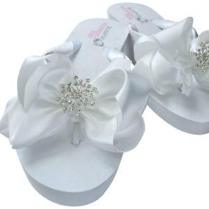 Bridal Flip Flops Starburst Rhinestones