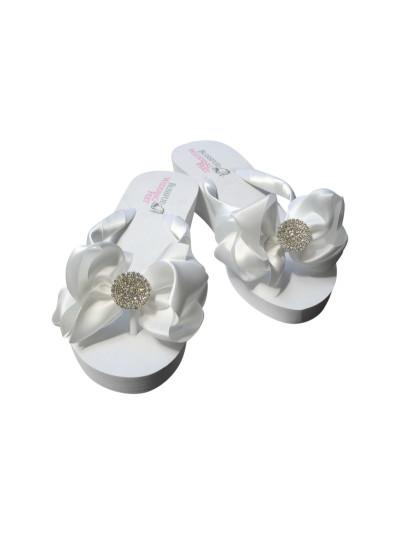 Bridal Flip Flops with Pave Rhinestones
