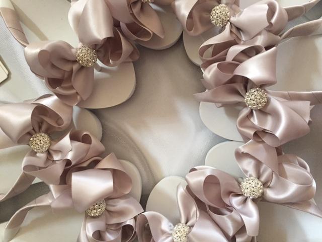 bridesmaids Flip Flops with Rhinestones