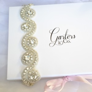 Crystal Wedding Garter with stunning rhinestones