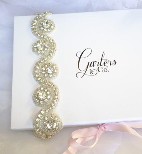 Crystal Wedding Garter with stunning rhinestones