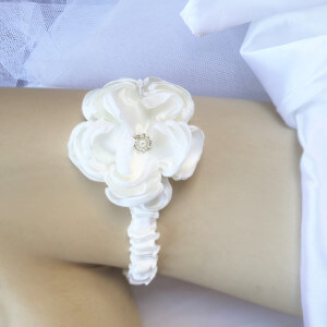 Stephanie Wedding Garter with large rose