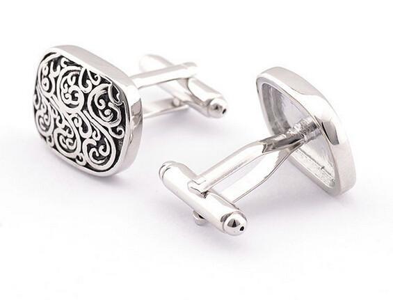 Black and Silver Swirls cufflinks