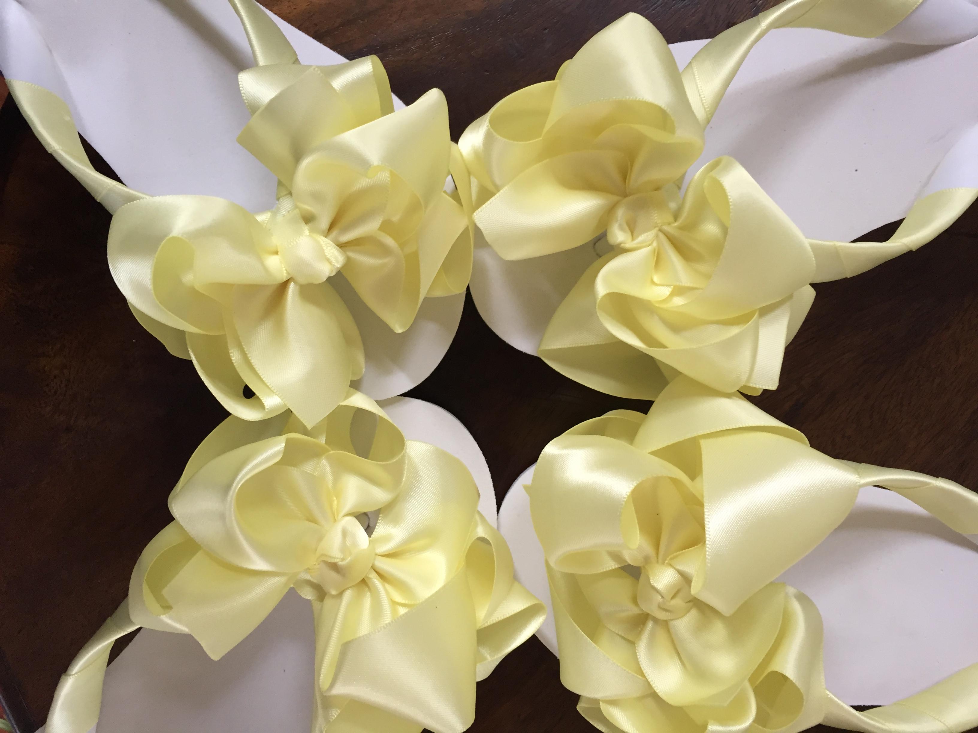 Bridesmaids Flip Flops in Lemon