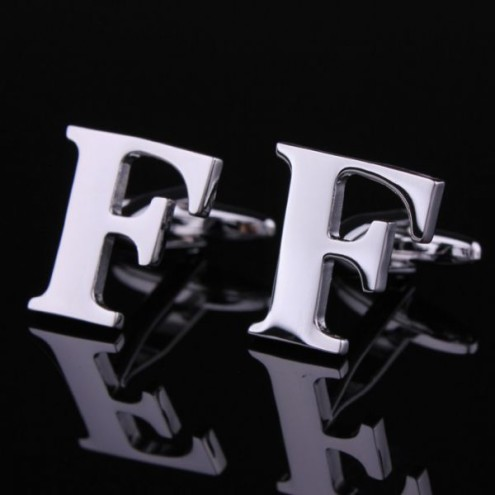 Mens alphabet cufflinks