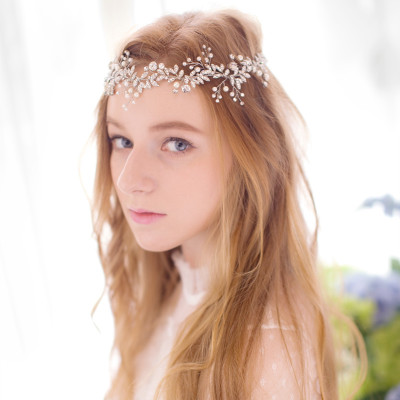 Rhinestone and Pearl Headpiece