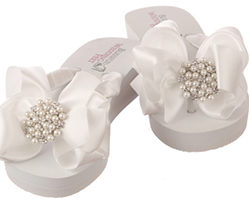 Flip Flops with high wedge heel for Wedding Day