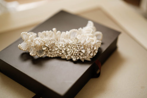Desiree Heirloom Garter with beautiful rhinestones