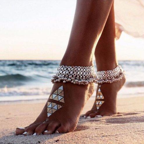 Beach Wedding Shoes in silver