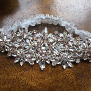 Heirloom Wedding Garter with beaded edge