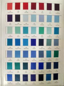 Satin Ribbon Colour Chart for Bridal Flip Flops